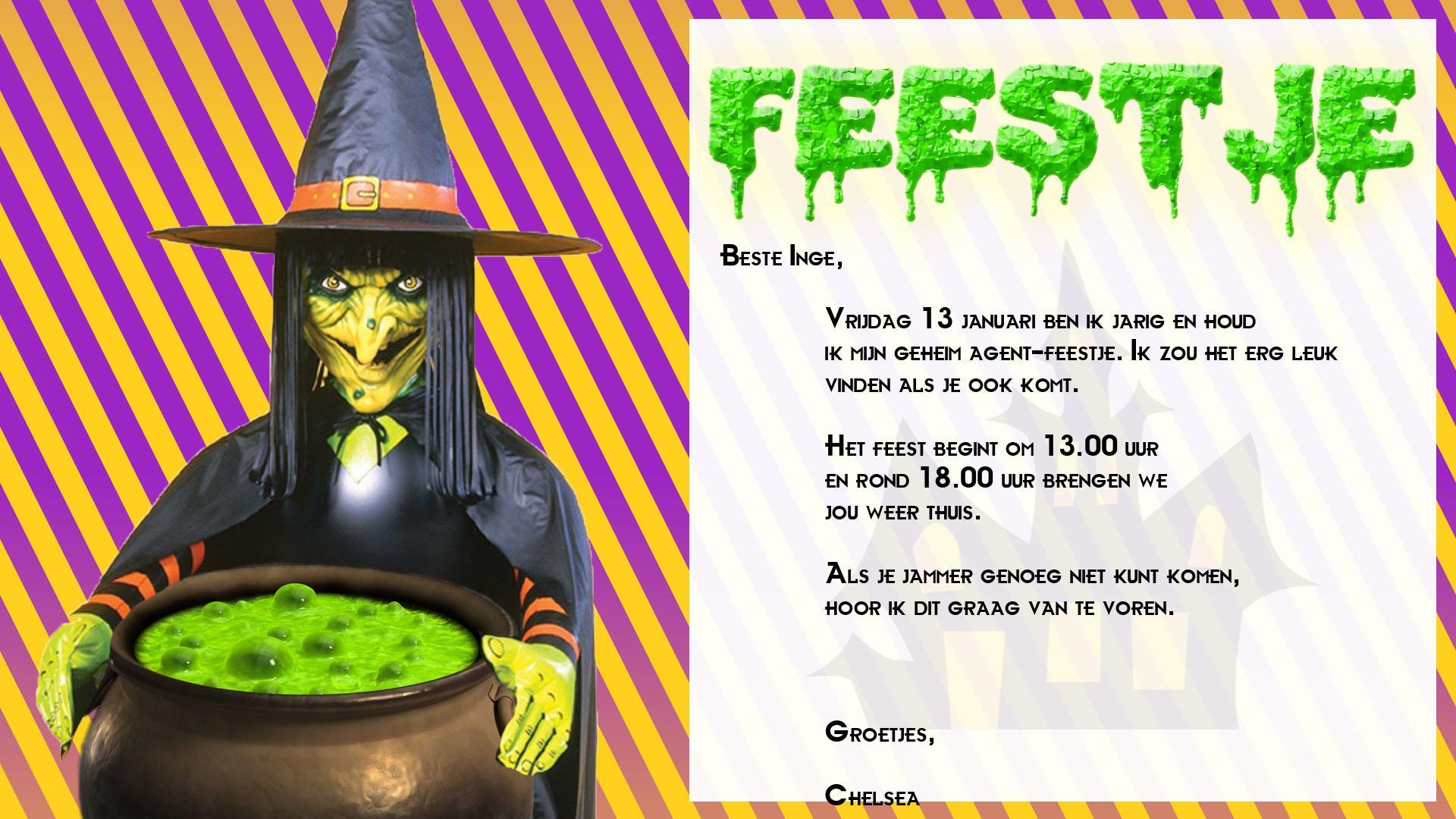 Heksen Feestje2 Kinderfeestje Thuis